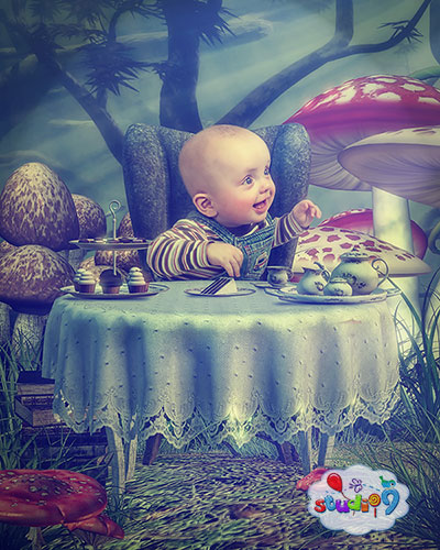 Tea party fantasy photography