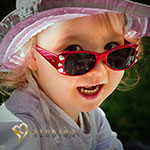 Cool little girl in sunglasses