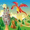 Dragon and castle landscape