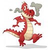 Fun fire breathing dragon