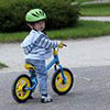 Photograph of Boy's first bike ride